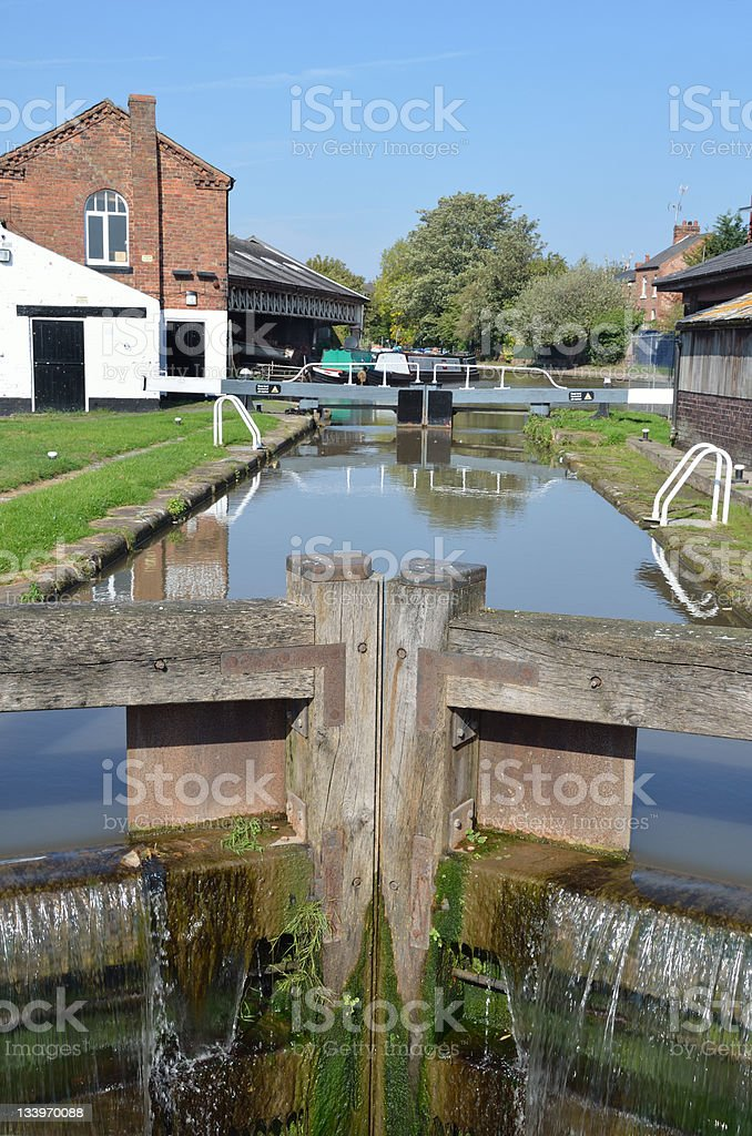 Lock on Canal in Chester royalty-free stock photo