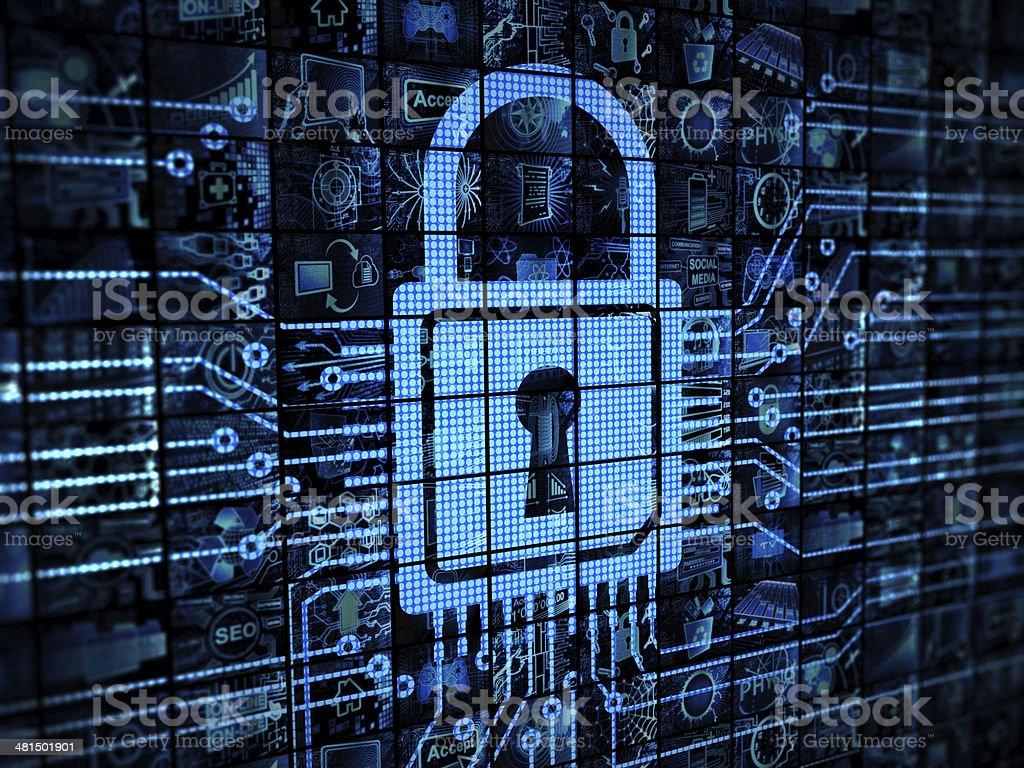Lock on VideoWall stock photo