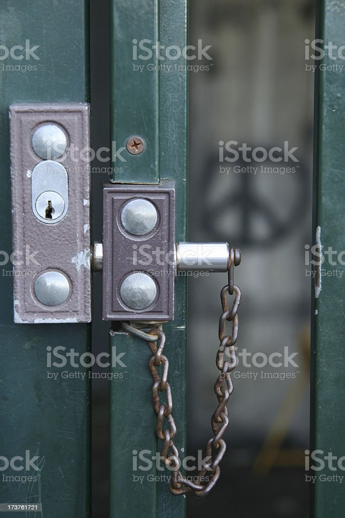 Lock out from peace royalty-free stock photo