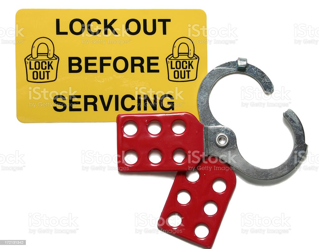 Lock Out Tag Out stock photo