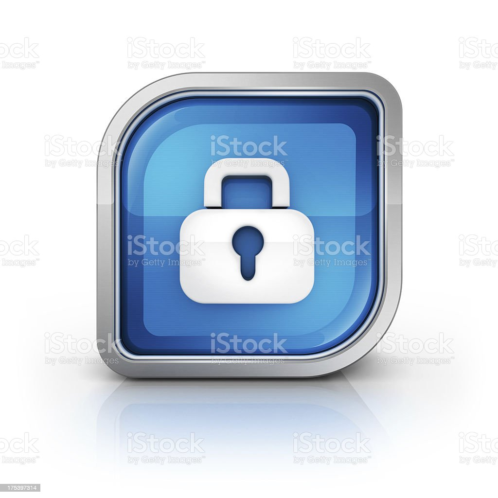 lock security glossy icon royalty-free stock photo