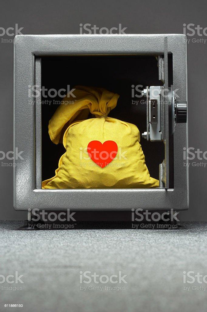 Lock up my heart stock photo