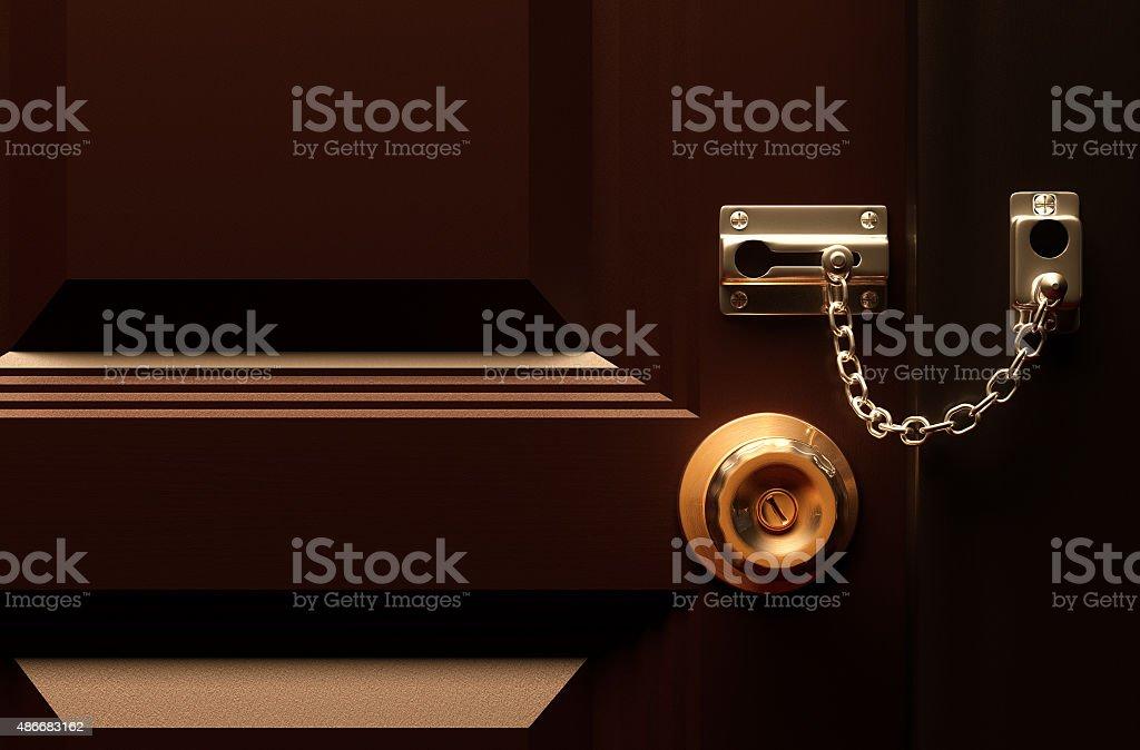 Lock your door. stock photo