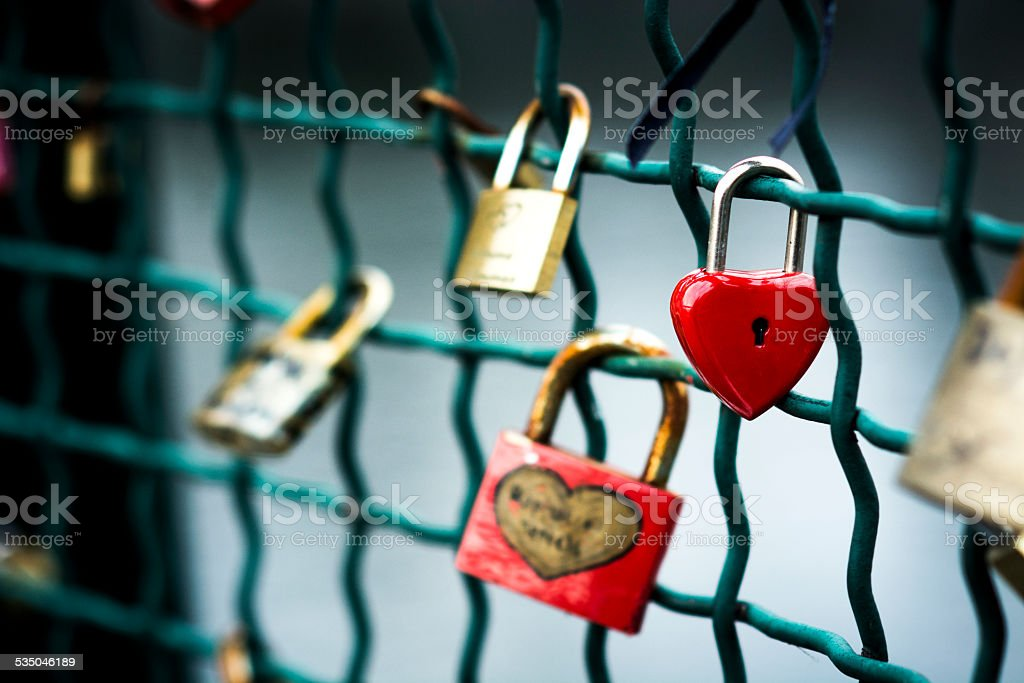Lock your love stock photo