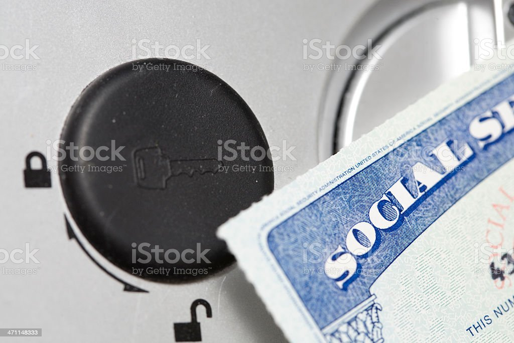 Lock your social security card royalty-free stock photo