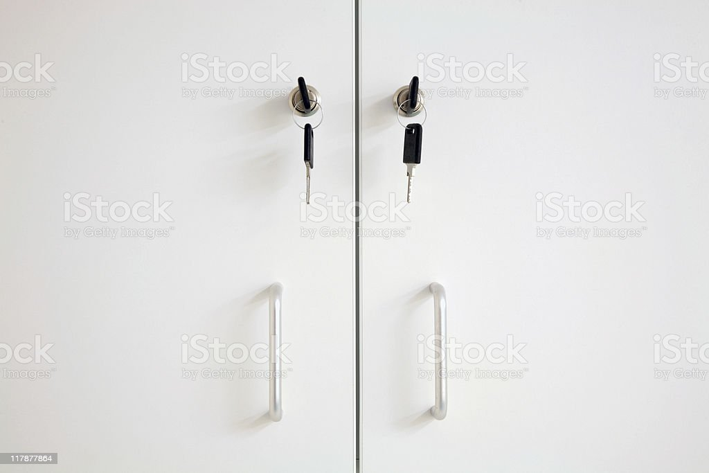Lockable Cupboard royalty-free stock photo