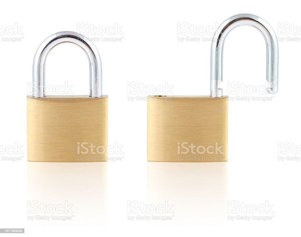 Locked and Unlocked stock photo