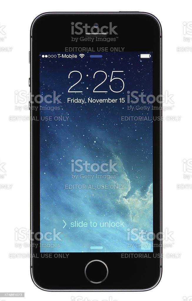Locked Apple iPhone 5s stock photo