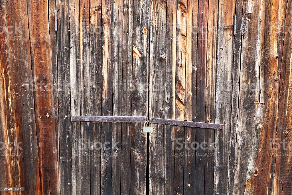 locked barn stock photo
