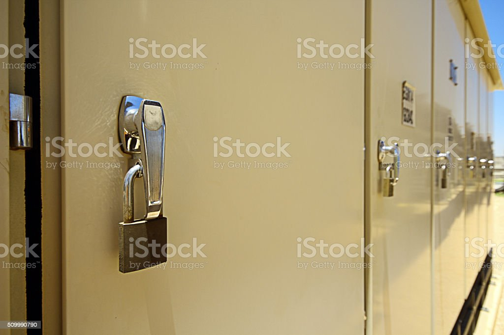 Locked Cabinet stock photo