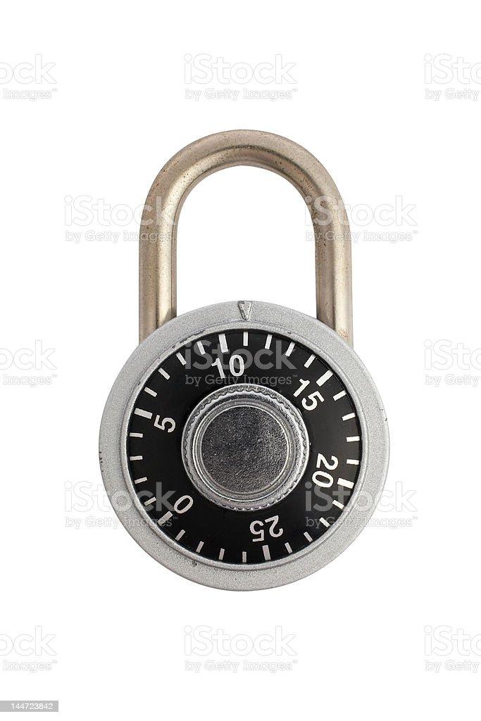 Locked combination padlock stock photo