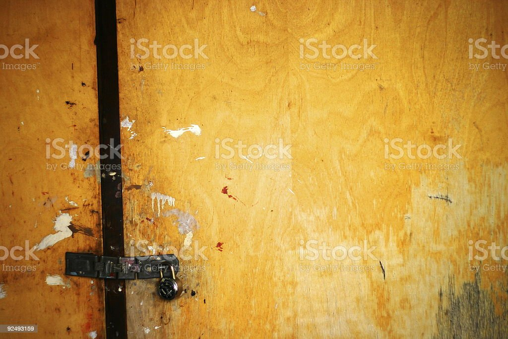 Locked Door royalty-free stock photo