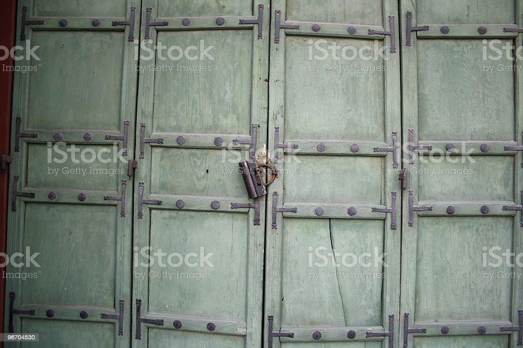 Locked Doors royalty-free stock photo