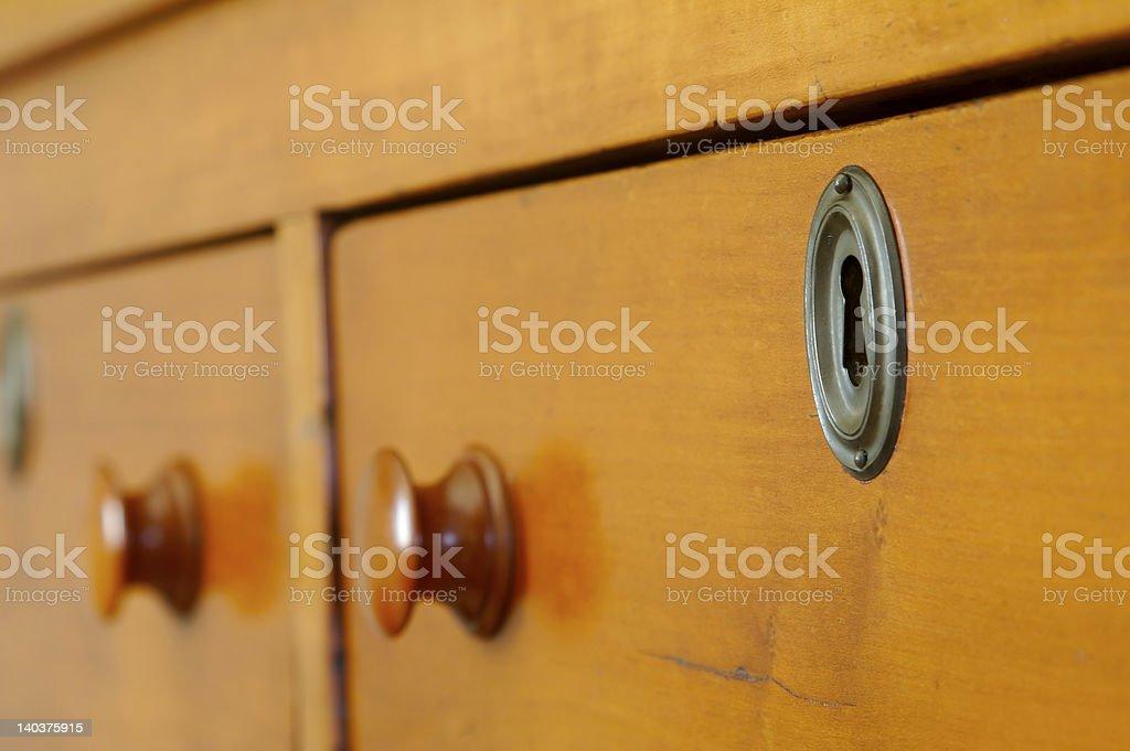 Locked Drawer royalty-free stock photo