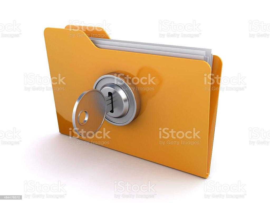 locked folder stock photo