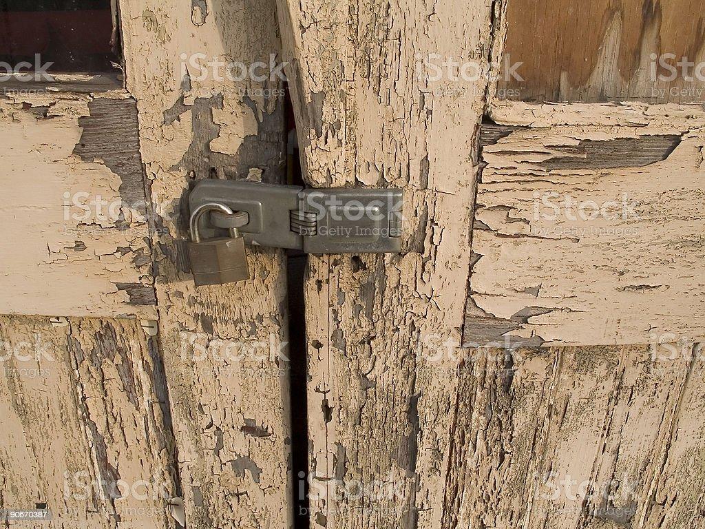 Locked Garage royalty-free stock photo
