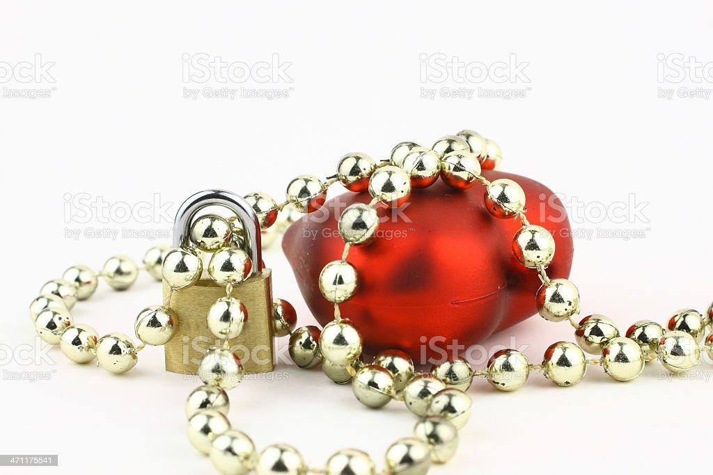 Locked hearth shape stock photo