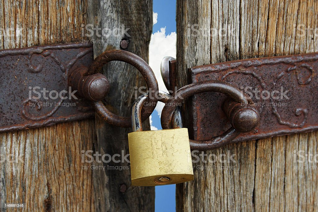 Locked heaven gate royalty-free stock photo