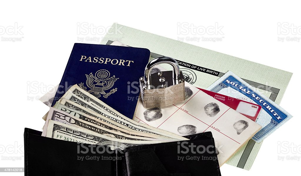 Locked Identity Documents stock photo