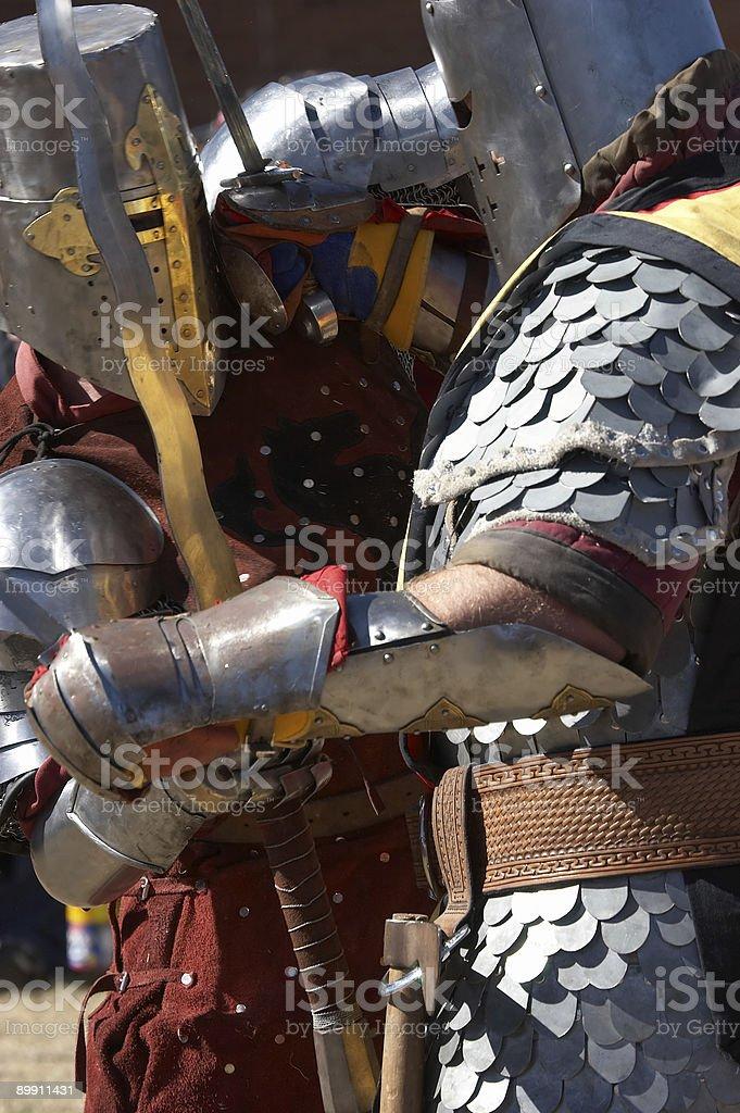 Locked In Combat stock photo