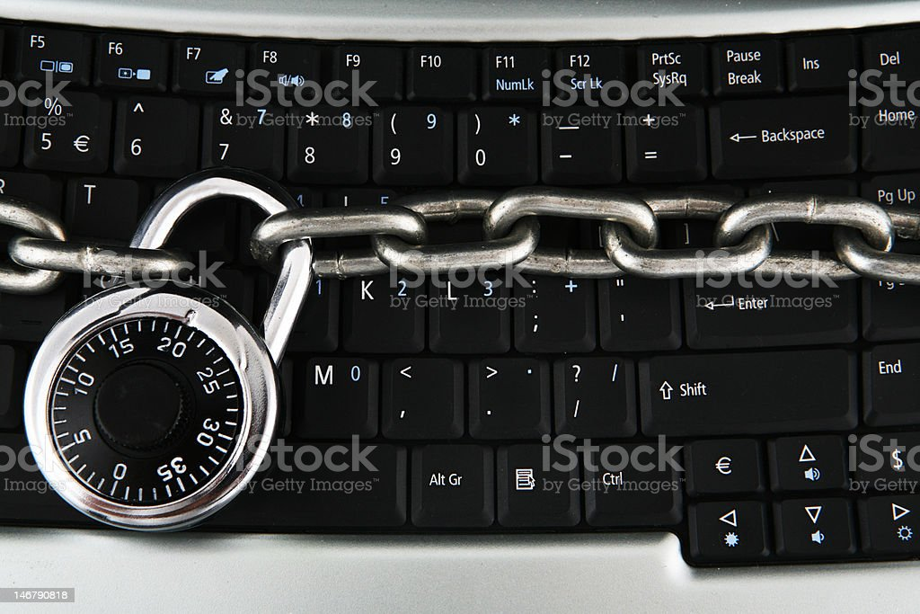 Locked Keyboard royalty-free stock photo