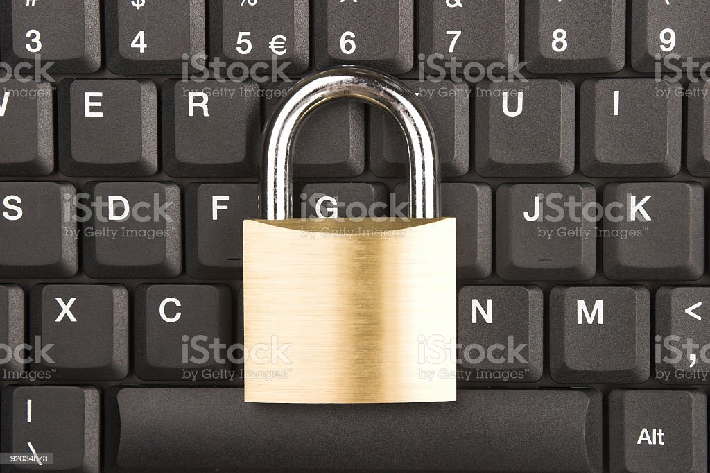 Locked Keyboard royalty-free stock photo