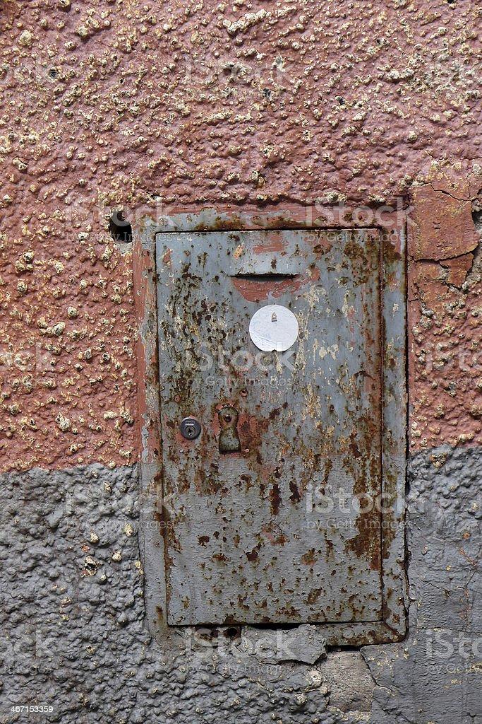Locked Meter Box royalty-free stock photo