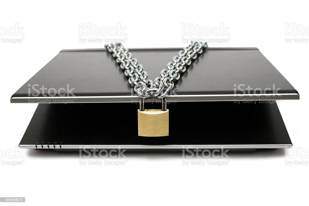 Locked Mobile Computer royalty-free stock photo