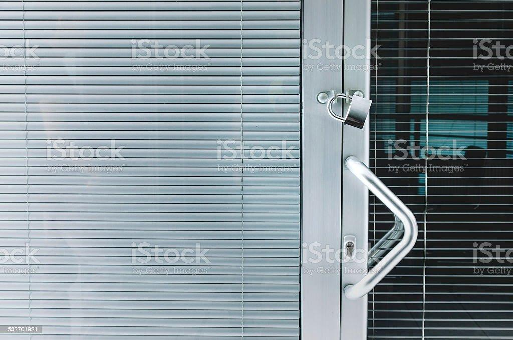 Locked office stock photo