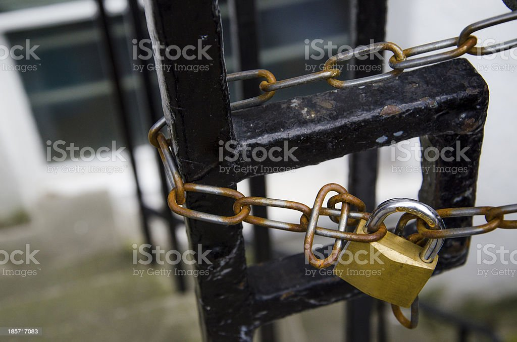 Locked royalty-free stock photo