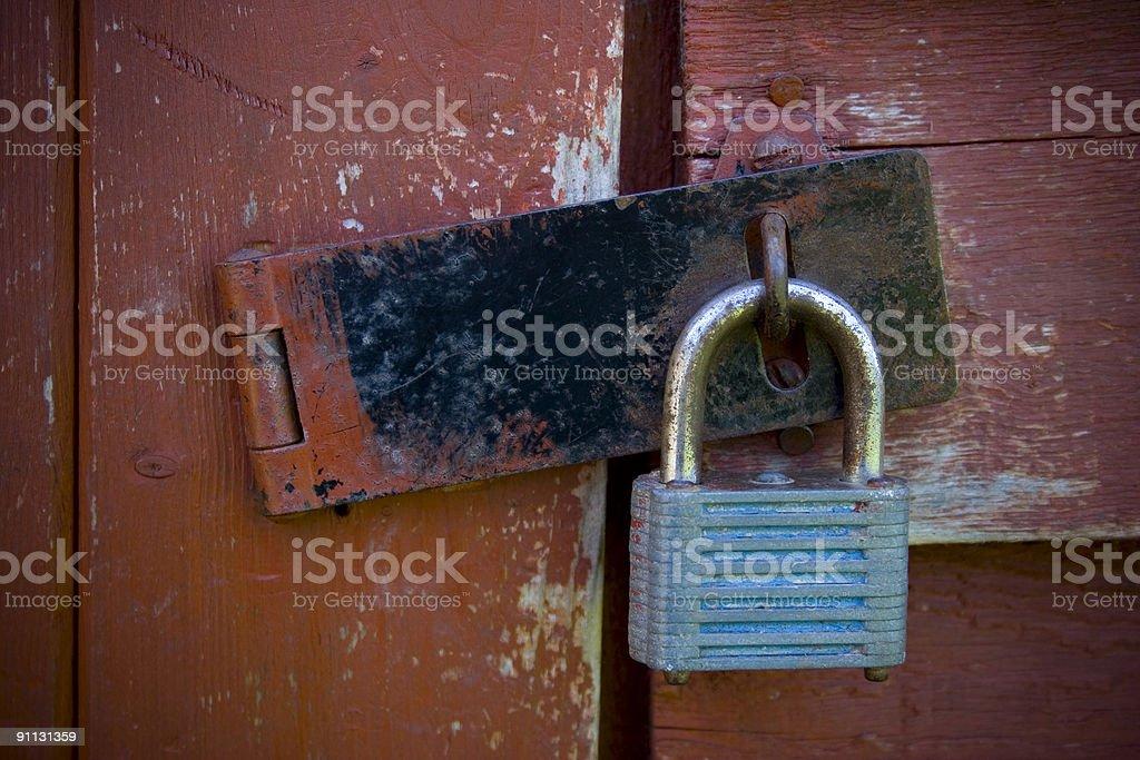 Locked stock photo