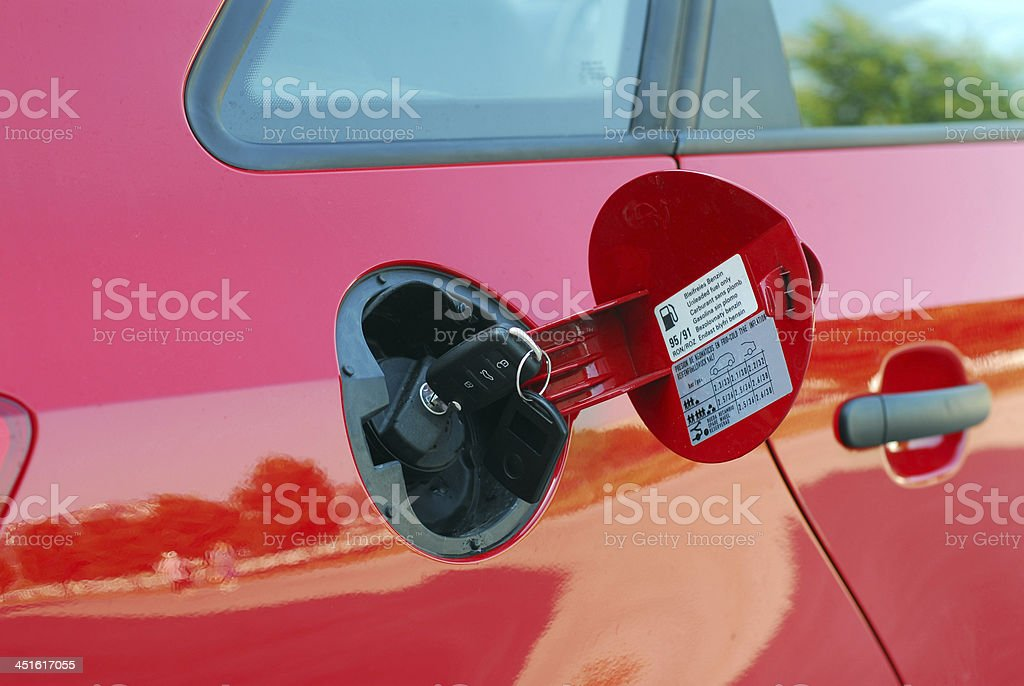 Locked Tank Waiting for charging cars stock photo