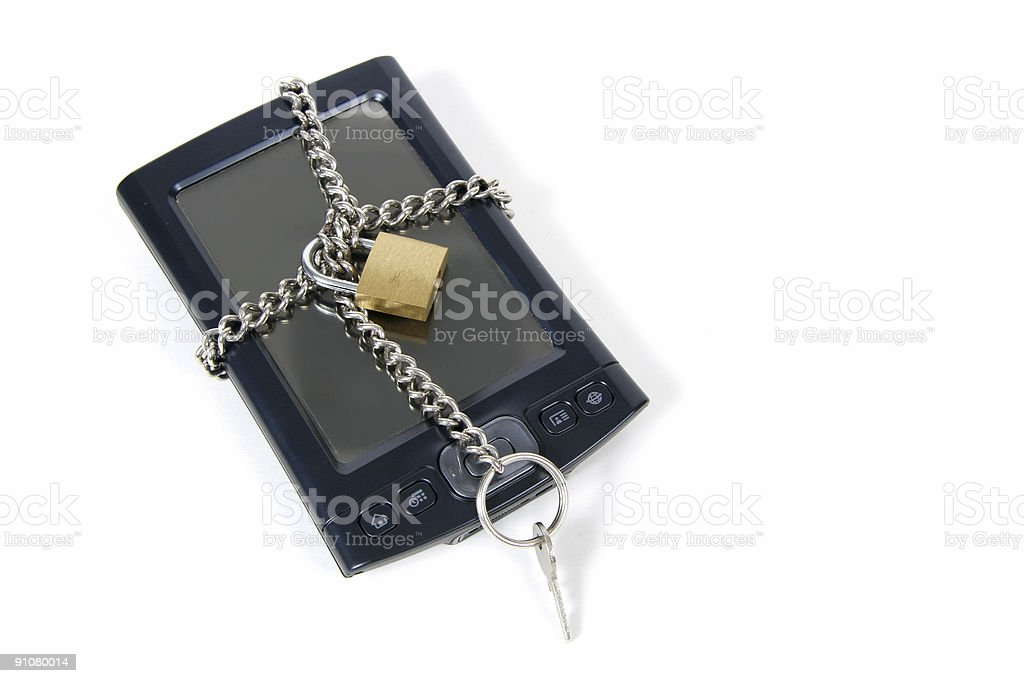 PDA Locked Up for Security royalty-free stock photo