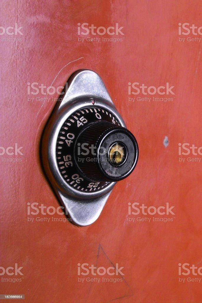 Locker Door With Combination royalty-free stock photo