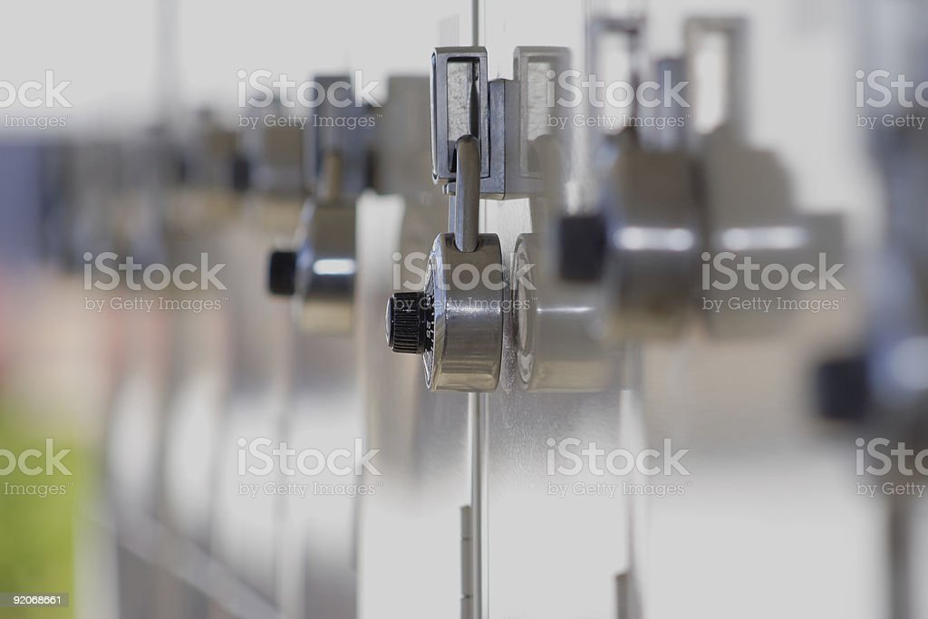 locker line royalty-free stock photo