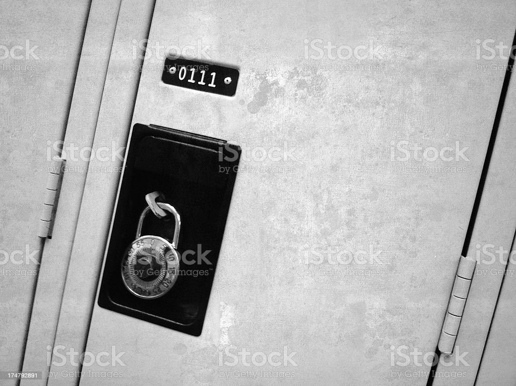 Locker One Eleven royalty-free stock photo
