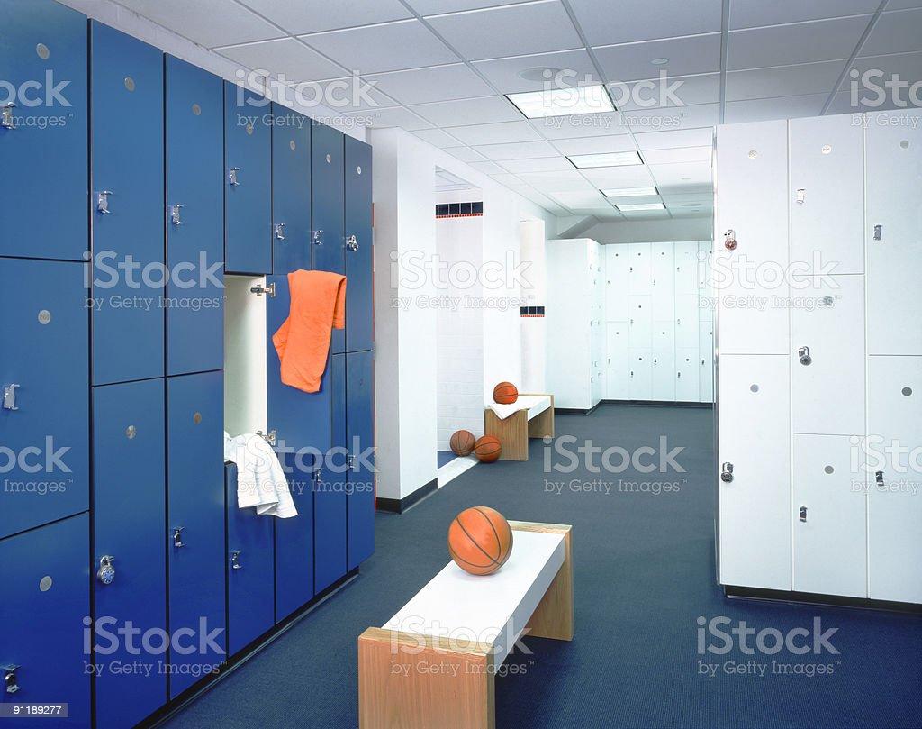 Locker Room and T-shirt stock photo