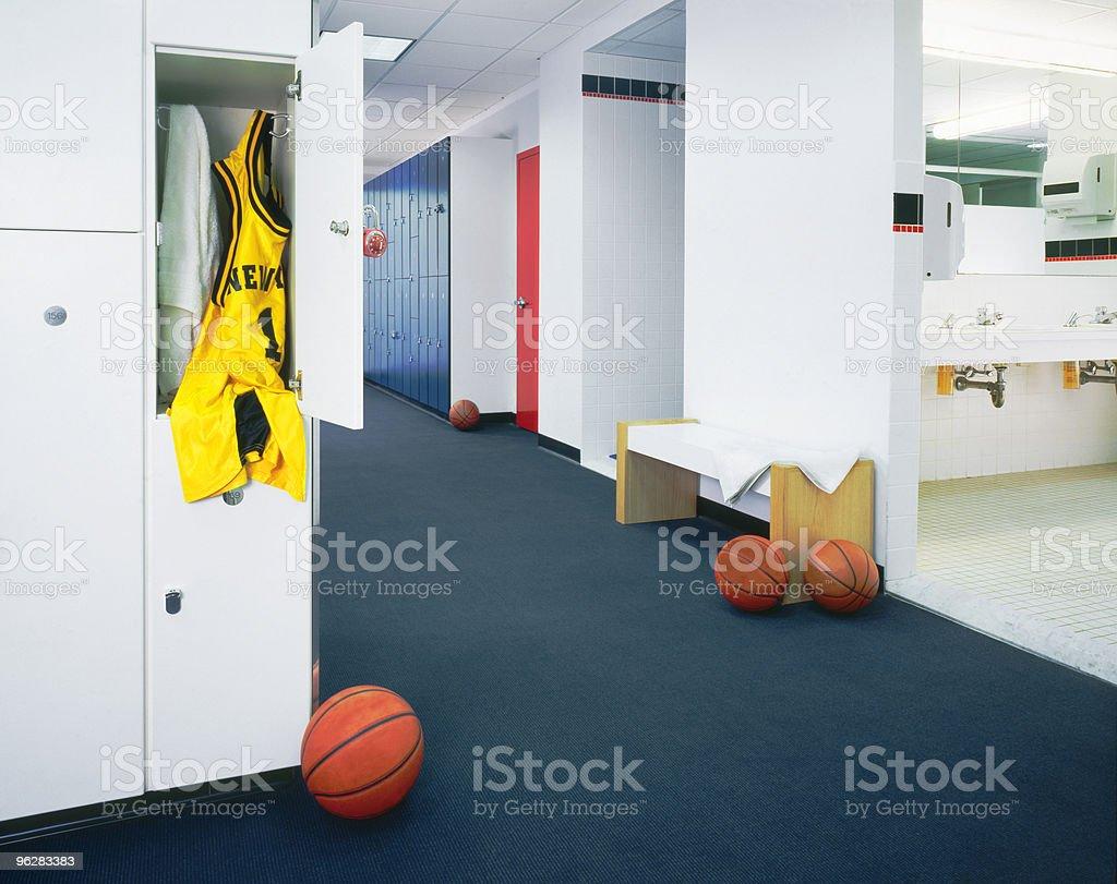 Locker Room & Basket Ball Jersey stock photo