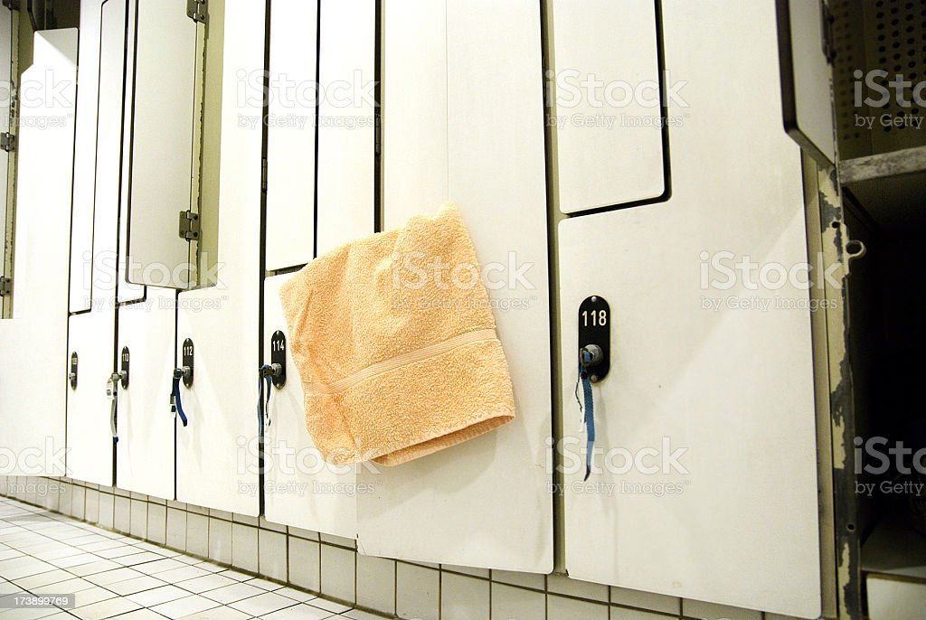 locker room - Umkleideraum stock photo