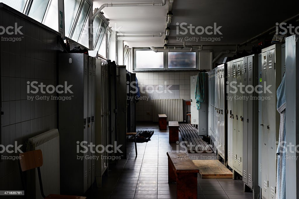 Locker Room. Color Image stock photo