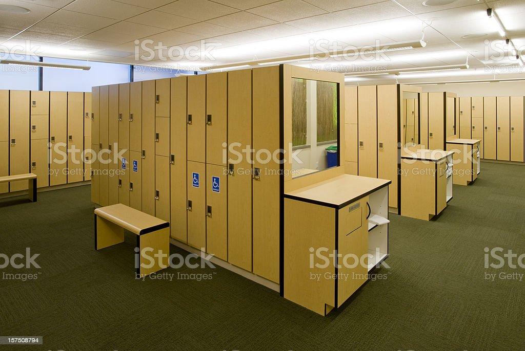 Locker Room royalty-free stock photo