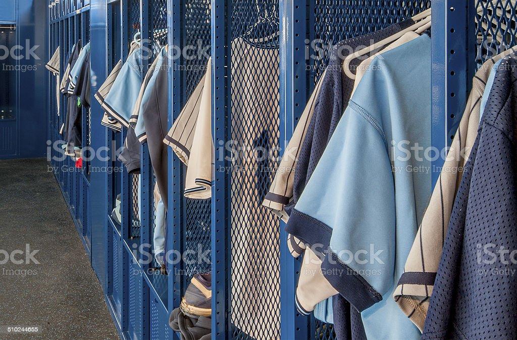 Locker Room stock photo