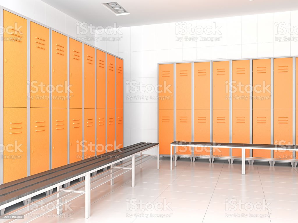 Locker Room stock photo