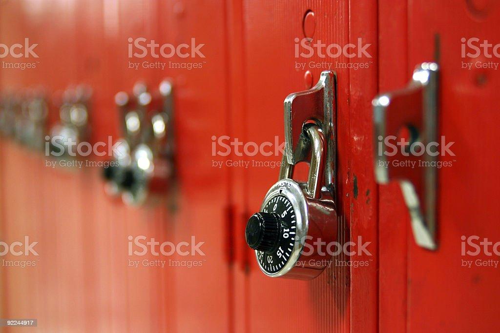 Locker row 2 stock photo