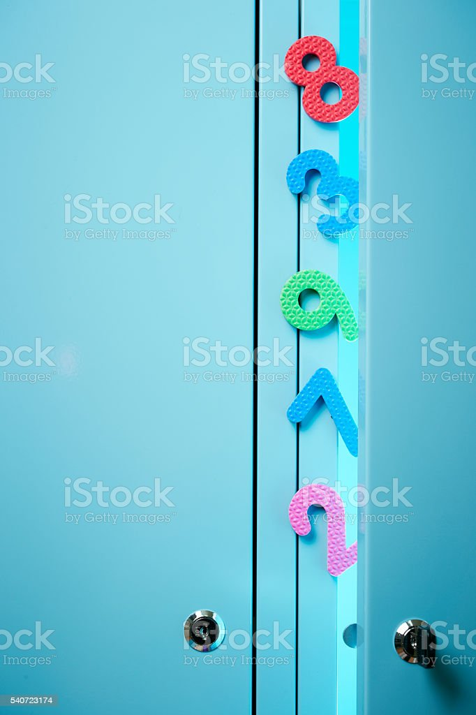 Locker with numbers object stock photo