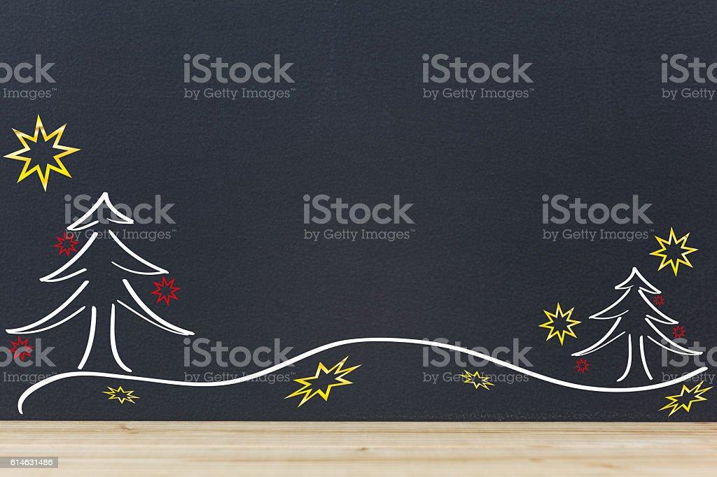 Lockere weihnachtliche Winterlandschaft stock photo