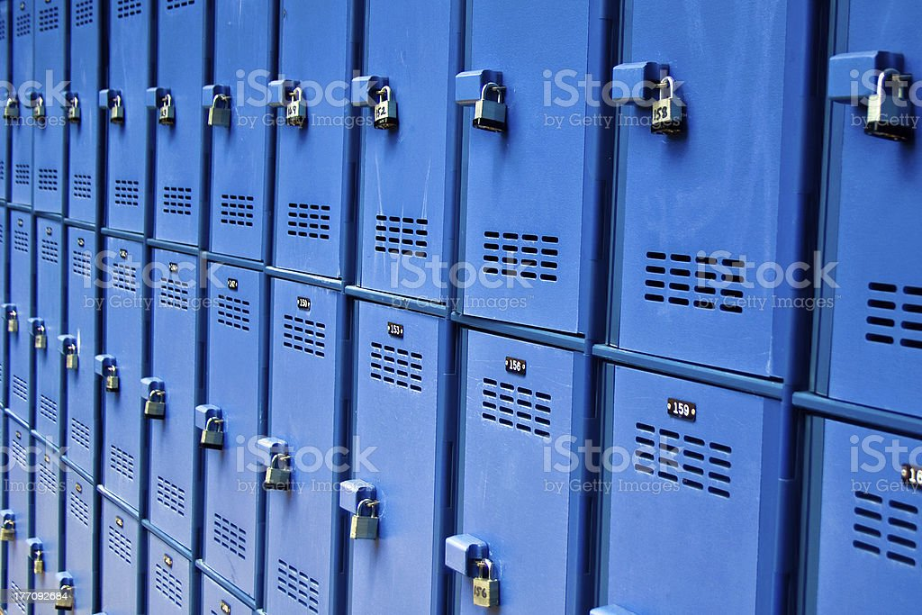 Lockers stock photo
