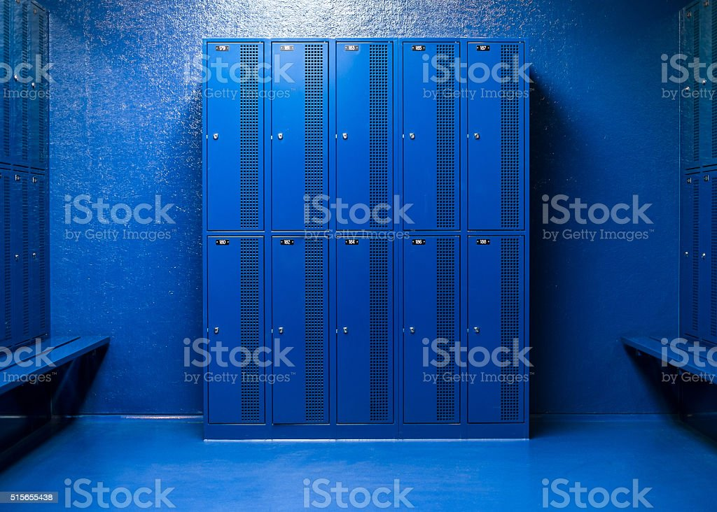 lockers to store items stock photo
