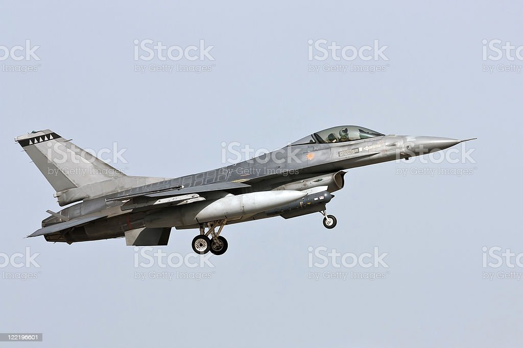 Lockheed Martin F-16 - Approach stock photo