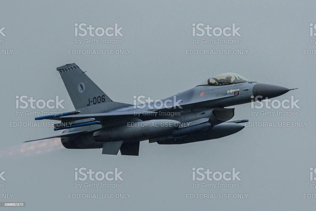 Lockheed Martin F-16AM Fighting Falcon at Luchtmachtdagen stock photo